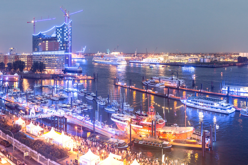 Blauer Hafen Aussicht auf dem City Sportboothafen