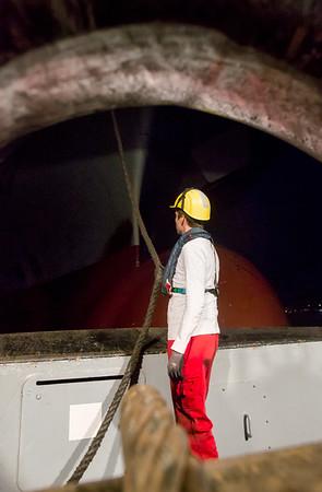 Schiffsmechaniker am Schleppdraht