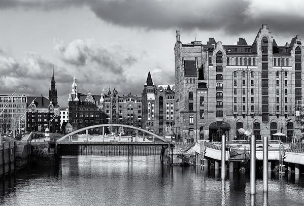 Magdeburger Hafen HafenCity schwarz-weiß