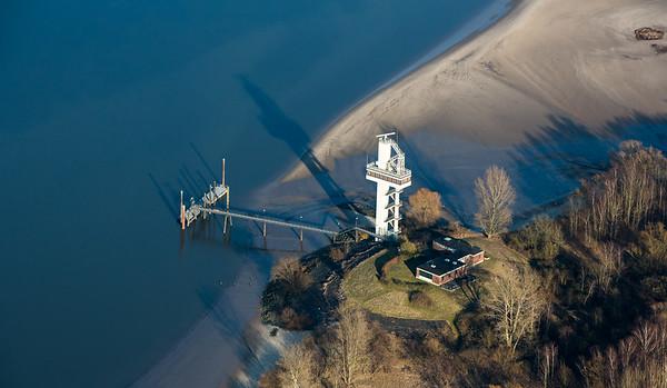 Luftbild Radarturm am Schweinesand