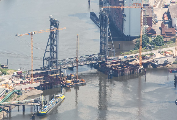 Luftbild Reiherstieg Hubbrücke