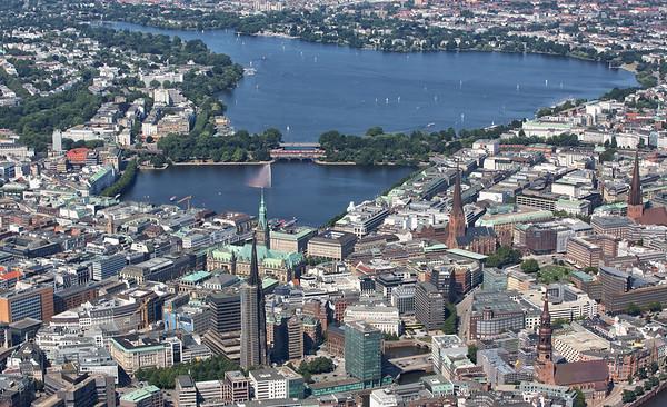 Luftaufnahme Innenstadt Hamburg