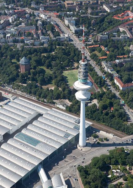 Luftbild Fernsehturm und Messe Hamburg