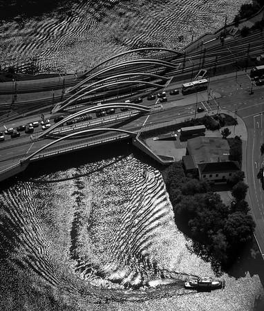 Saalehafen aus der Luft