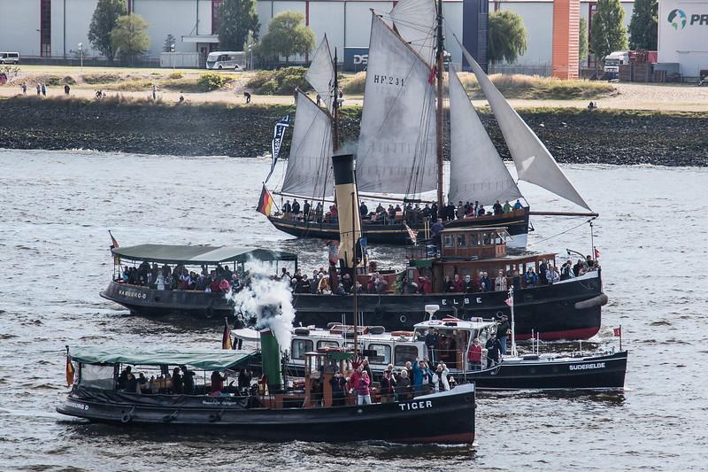 Hamburg Hafengeburtstag 4 Schiffe in Farbe