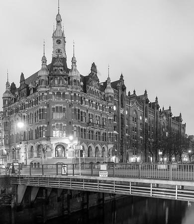 Speicherstadt Hamburg Schwarzweiß