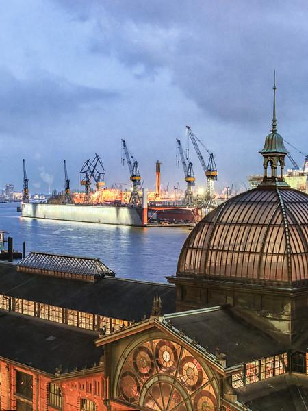 Aussicht auf die Fischauktionshalle Panorama