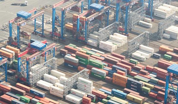 Luftbild Terminalburchardkai Container Hamburg