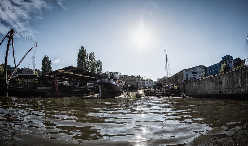 Schiffswerft Flint im Reiherstieg
