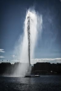 Wasserfontäne Alster Hamburg