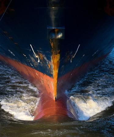 Bug von Containerschiff