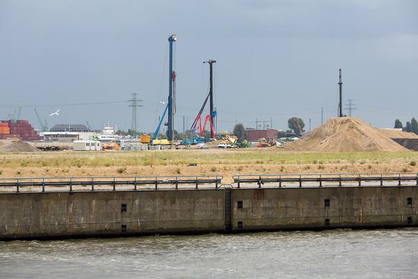 Baustelle Kreuzfahrtterminal steinwerder Hamburg