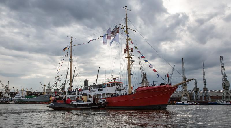 Feuerschiff Elbe 3 im Hansahafen Hamburg
