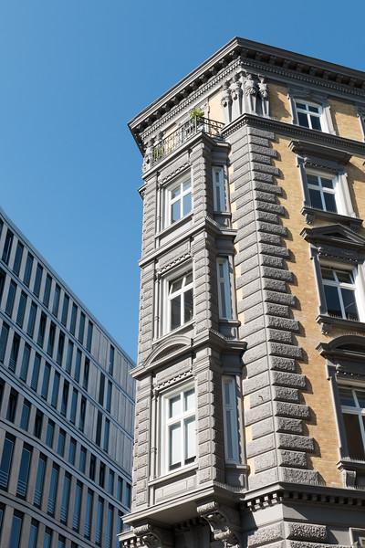 Hamburg Colonnaden Hausfassade