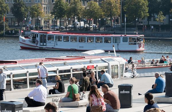 Jungfernstieg an der Binnenalster Hamburg