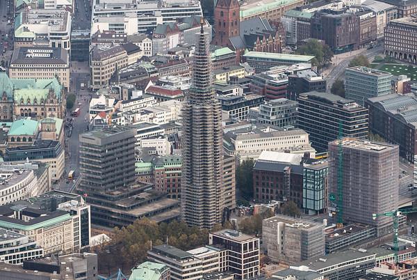 Sankt Nicolai Mahnmal Hamburg aus der Luft