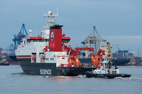 Forschungsschiff Sonne in Hamburg