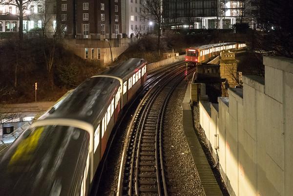 Hamburger Hochbahnlinie U3 Station Landungsbrücken