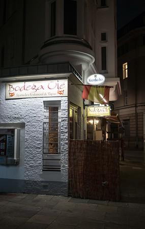 Gaststätte in der Nacht in Hamburg
