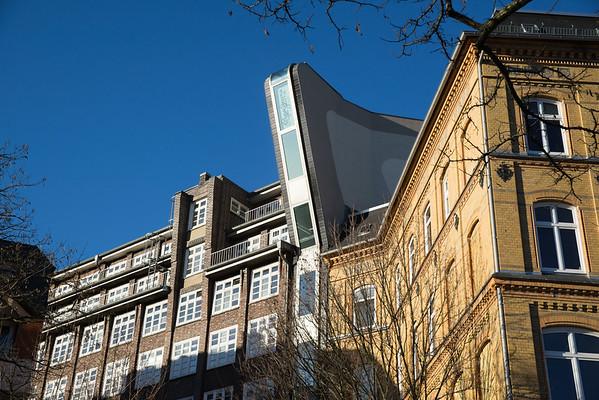 Schmales Haus in Hamburg