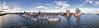 Panorama Hamburg Elbe aus der Luft