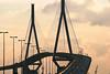 2004-06-29 21:11 | Köhlbrandbrücke bei Sonnenuntergang | Architektur, Transport | Bild Nr.: IMG_2989-Andreas-Vallbracht