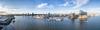 Panorama über der Norderelbe Hamburg