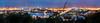 Aussicht vom Altonabalkon am Abend in Hamburg