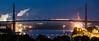 Köhlbrandbrücke am Abend Panorama