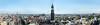 Panorama Aussicht Hamburg Sankt Pauli mit Michel