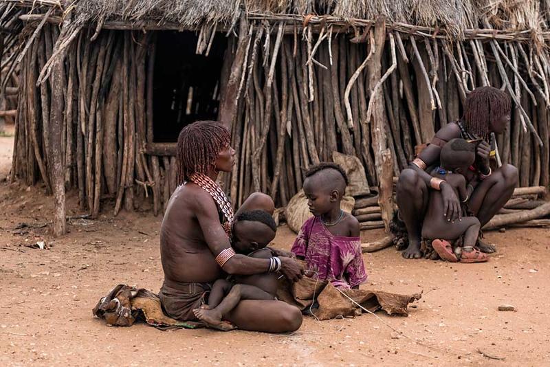 Feeding Time In Hamer Village