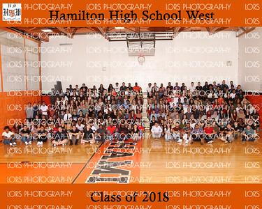 Hamilton HS West Senior Group Photo 2017-2018
