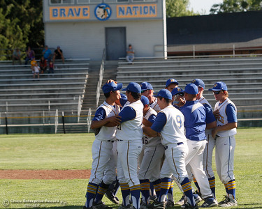The Hamilton High baseball team celebrates after a 4-0 win over Enta High in the Northern Section Division V semi-final baseball game May 17, 2016 in Hamilton City, Calif. (Emily Bertolino -- Enterprise-Record)