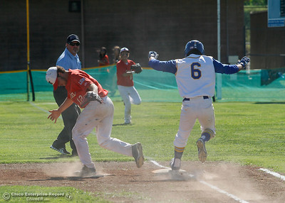 during the Northern Section Division V semi-final baseball game between Hamilton and Enta High Schools May 17, 2016 in Hamilton City, Calif. (Emily Bertolino -- Enterprise-Record