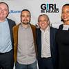 Lin-Manuel Miranda and Luis A. Miranda Jr. with Lukas Haynes and Aya Roach