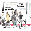 New Yorker Comic Drawing of GIRL BE HEARD event<br /> by Liza Donnelly