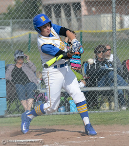 Hamilton High's Chris Engle at bat against University Prep in the Northern Section Division IV semifinal baseball game Monday May 15, 2017 at Hamilton High School in Hamilton City, California. (Emily Bertolino -- Enterprise-Record)