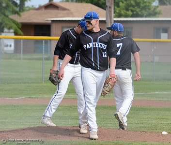 Hamilton High baseball team hosts University Prep in a Northern Section Division IV semifinal baseball game Monday May 15, 2017 at Hamilton High School in Hamilton City, California. The host Braves are the No. 3 seed while U-Prep is seventh but upset No. 2 Colusa in the quarterfinals, allowing Hamilton to host the semifinal. The Braves have won five straight section titles in a row but are competing in Division IV this season, a level higher than years past. (Emily Bertolino -- Enterprise-Record)