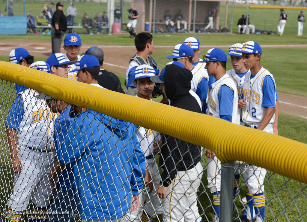 . Hamilton High baseball team hosts University Prep in a Northern Section Division IV semifinal baseball game Monday May 15, 2017 at Hamilton High School in Hamilton City, California. The host Braves are the No. 3 seed while U-Prep is seventh but upset No. 2 Colusa in the quarterfinals, allowing Hamilton to host the semifinal. The Braves have won five straight section titles in a row but are competing in Division IV this season, a level higher than years past. (Emily Bertolino -- Enterprise-Record)