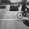 Biker  oon way to get gas