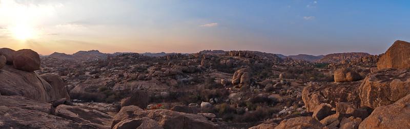 A three photo mini panorama taken close to sunset.