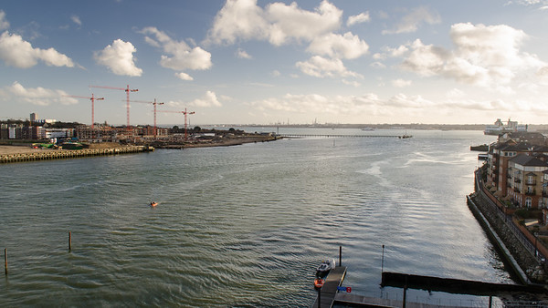 Mouth of the River Itchen in Southampton