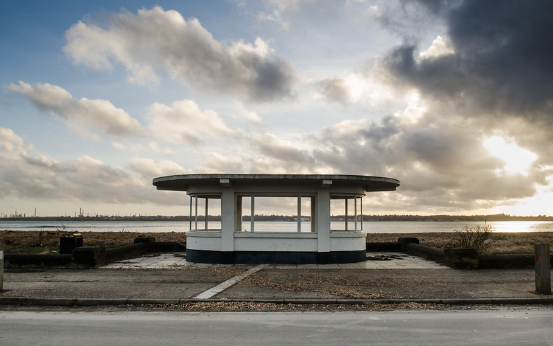 Beach hut at Weston Shore