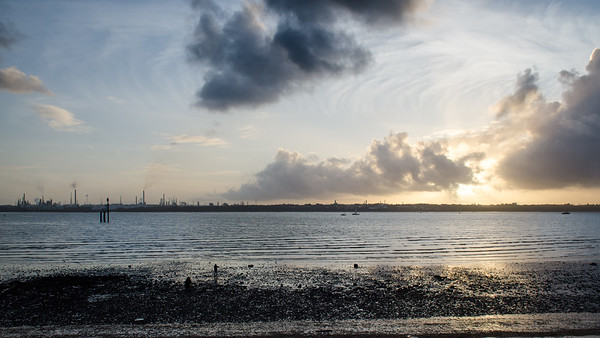 Sunset over Southampton Water