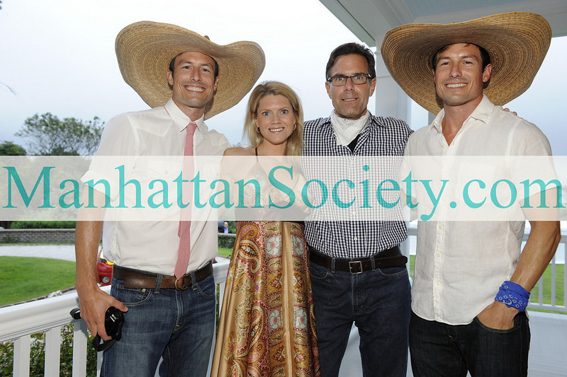 WATERMILL-AUGUST 22: Drew Riker, Wendy Holmes, Richard Ziegelasch, Derek Riker attend BEST BUDDIES Hamptons Gala 2009 on Friday, August 21, 2009 at the home of Anne Hearst McInerney & Jay McInerney, Watermill, New York (Photo Credit: ©ManhattanSociety.com by Gregory Partanio)