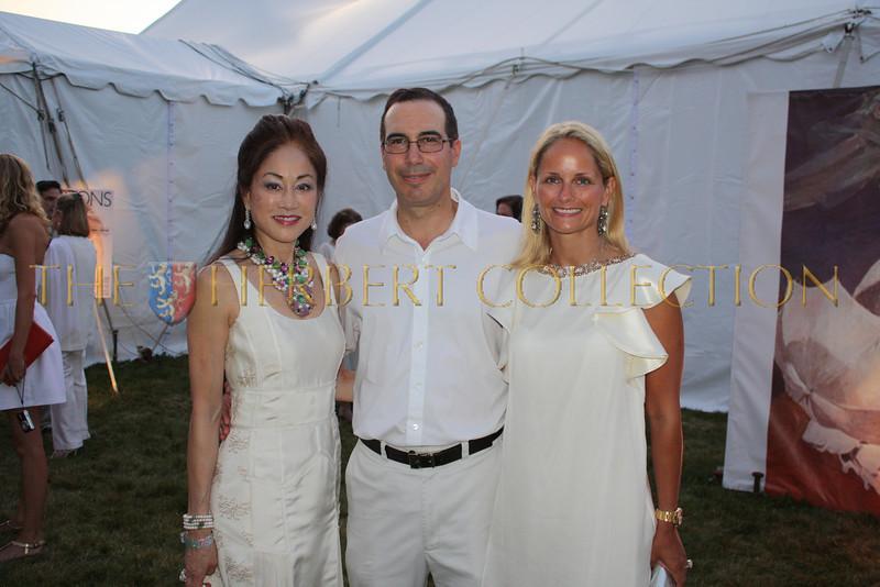 Lucia Hwong Gordon, Steve and Heather Mnuchin