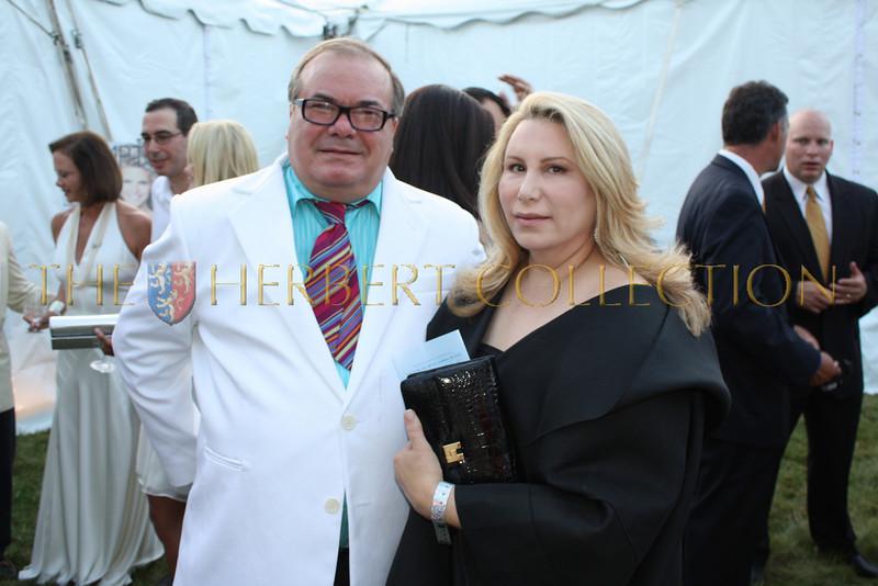 Hunt Slonem and Melissa Parker