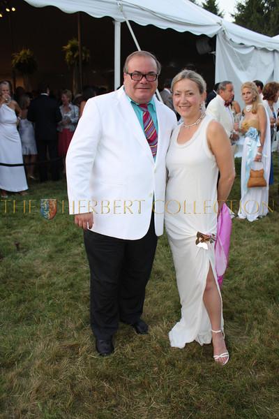 Hunt Slonem and Janna Bullock