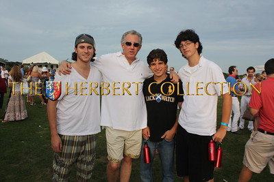 Matt Klarberg with father Barry Klarberg, Justin Galloway and Jake Klarberg