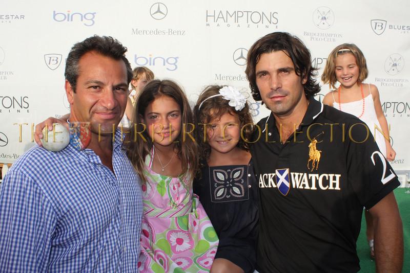 Roys and daughter Elena Poyiadjis, Olivia Friedland and Nacho Figueras
